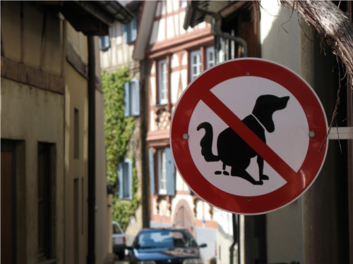 no doggy poo sign